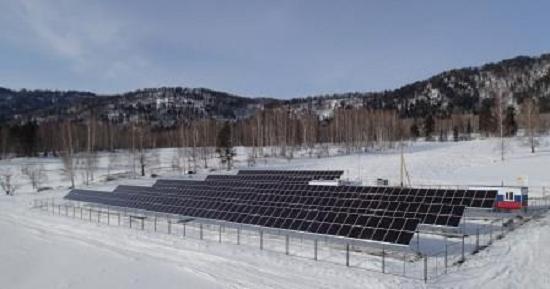 Одна из первых в мире гибридных дизель-солнечных электростанций, республика Алтай
